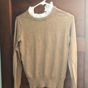 Zara knit ruffle neck sweater, size small